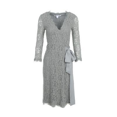 lace long sleeve wrap dress